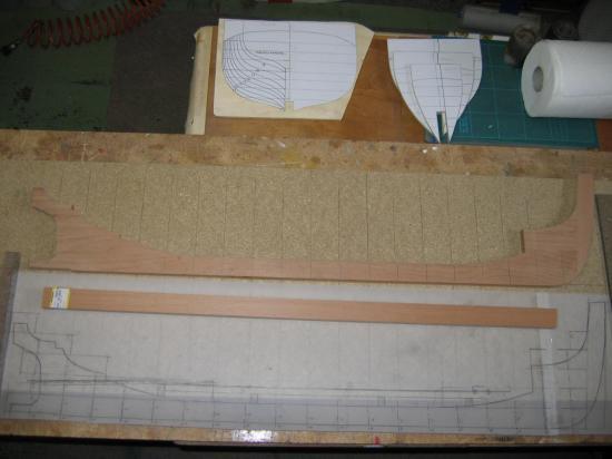 Construction de la quille
