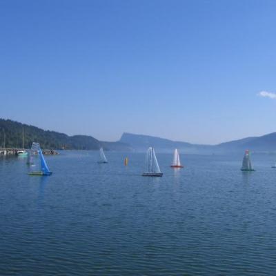 Régates sur le lac de Joux