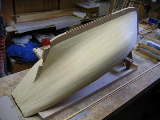 La coque prête au ponçage