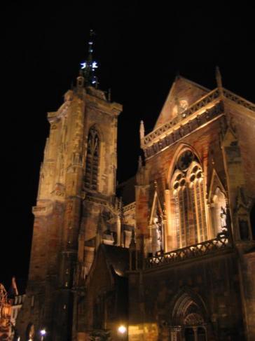 Colmar 07/ La cathédrale de nuit