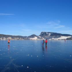 Lac de joux gelé