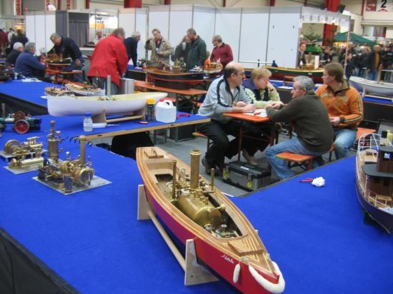 Vue générale stands bateaux
